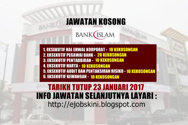 Jawatan Kosong di Bank Islam Januari 2017