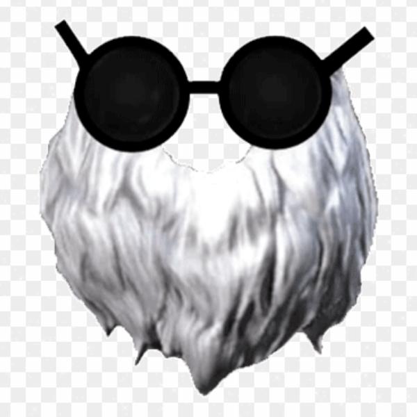 Barba del viejo Free Fire png transparente