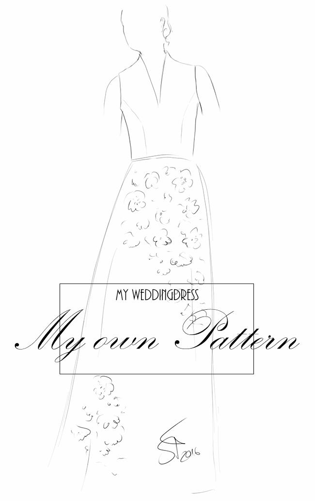 wedding, weddingdress, lace, sewing, nähen, Hochzeit, Hochzeitskleid, Spitze, Burda style, fashionsketching, Modezeichnung, Burda style