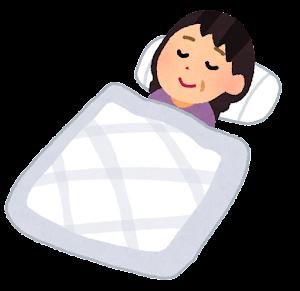 いろいろな寝ている人のイラスト(中年女性)