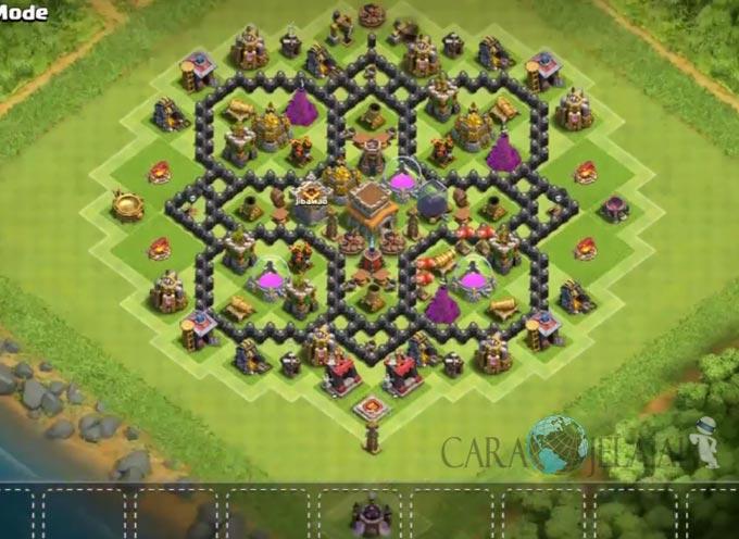 Base Farming TH 8 Clash Of Clans Terbaru 2017 tipe 15