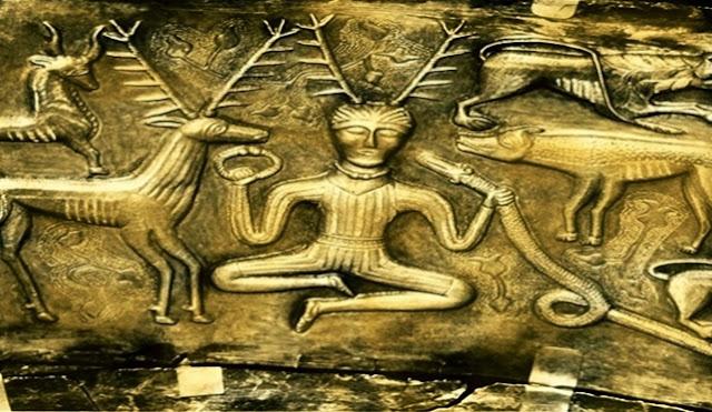 Representación de un antigua chamán