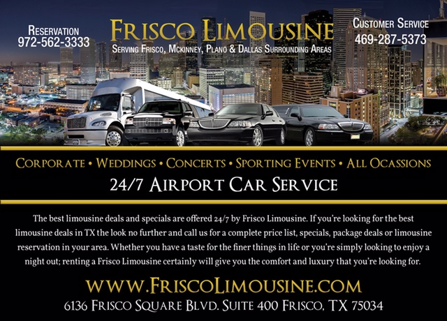Frisco Limousine LLC - 24/7 Airport Car Service