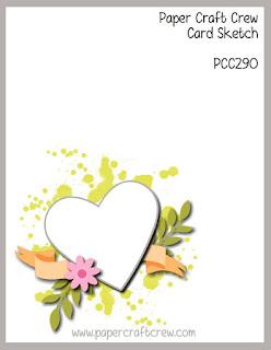 Paper Craft Crew Card Sketch Challenge #PCC290 from Mitosu Crafts UK Online Shop