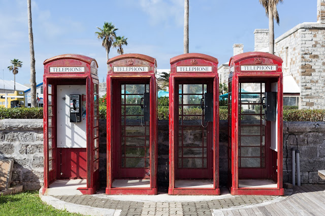 Cute British phone booths in Bermuda