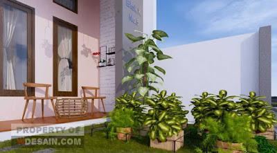 rumah minimalis 2 lantai 7x14 tampil menarik dengan taman