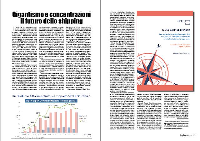 LUGLIO 2019 PAG. 26 - Gigantismo e concentrazioni il futuro dello shipping