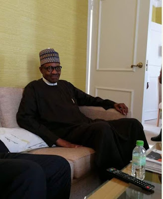 New Photos Of President Buhari In UK