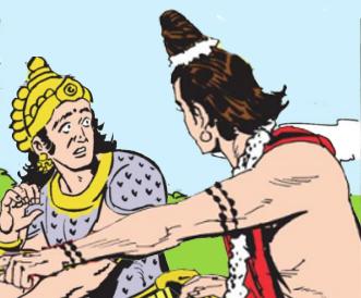 Narada advises Indra
