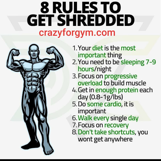 8 RULE TO GET SHREDDED
