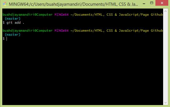 Perintah menambahkan file pada repositori