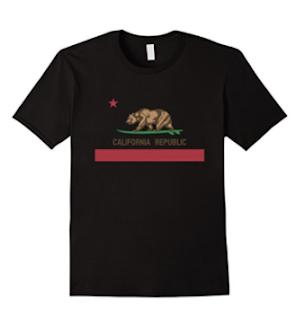 bear surfing t-shirt