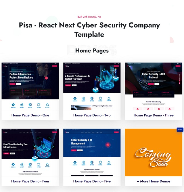React Next Cyber Security Company Template