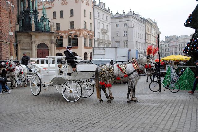 Krakow, atrkacje, przejazd bryczka
