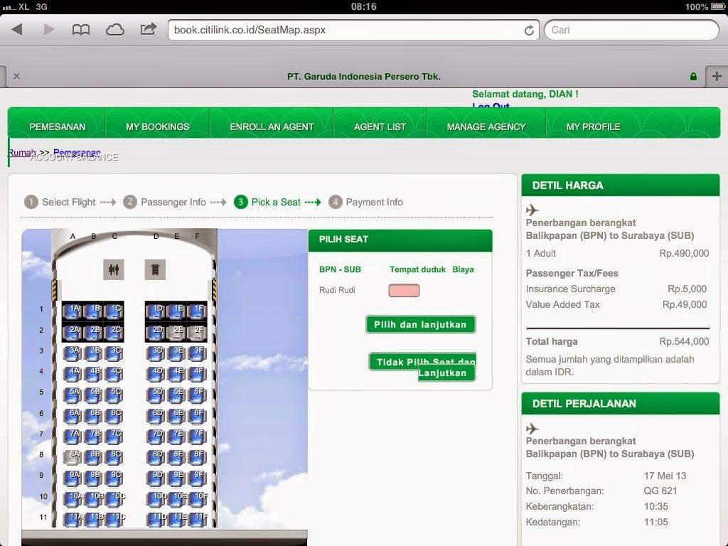 cara cek seat harga booking dan cetak ticket citilink travel on line rh qolbu ain blogspot com no urut kursi pesawat citilink nomor kursi di pesawat citilink