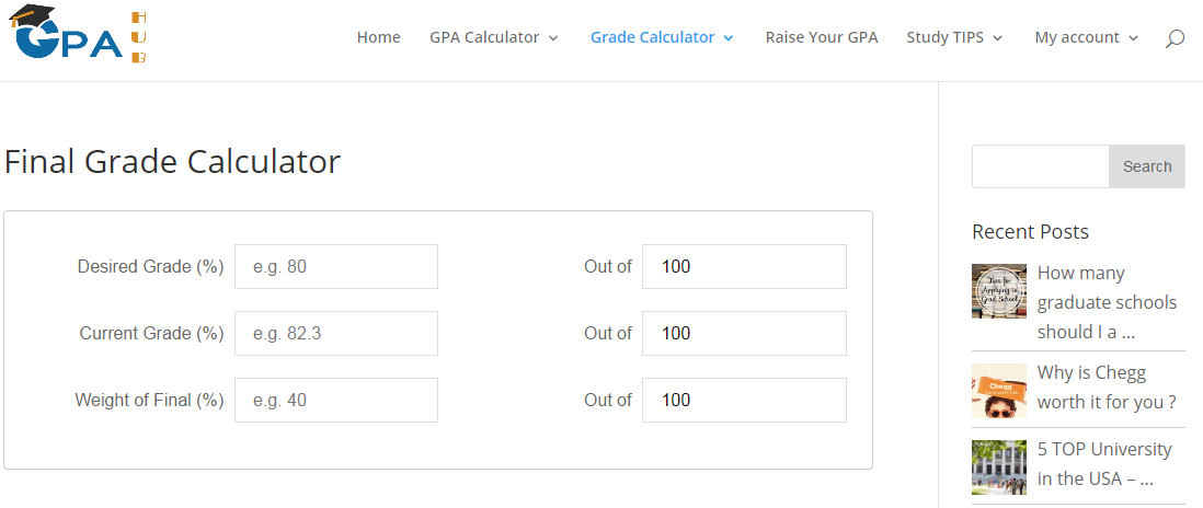 How To Use The Final Grade Calculator Free Study Resource