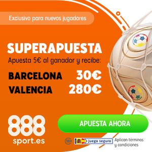 888sport superapuesta liga Barcelona vs Valencia 14 septiembre 2019