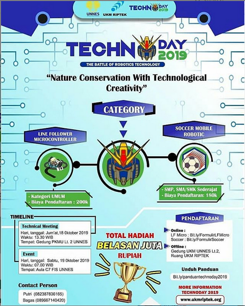 Technoday 2019 oleh Universitas Negeri Semarang (UNNES)
