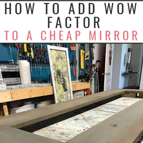 How To Add Wow Factor To A Cheap $10 Mirror