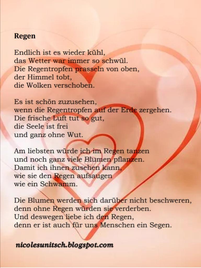 Gedichte Von Nicole Sunitsch Autorin Regen Gedicht Von