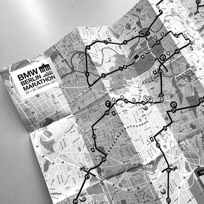 Karte Berlin | Marathonstrecke