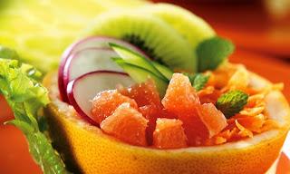 Salada na laranja light