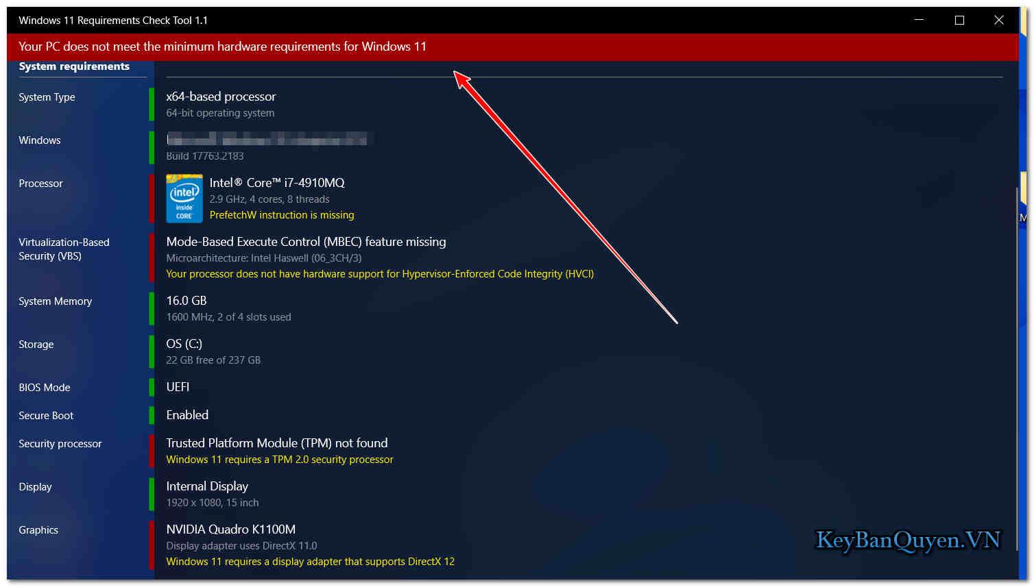 Download Windows 11 Requirements Check Tool 1.1.0 , Phần mềm kiểm tra máy tính bạn cài được Windows 11 hay không!