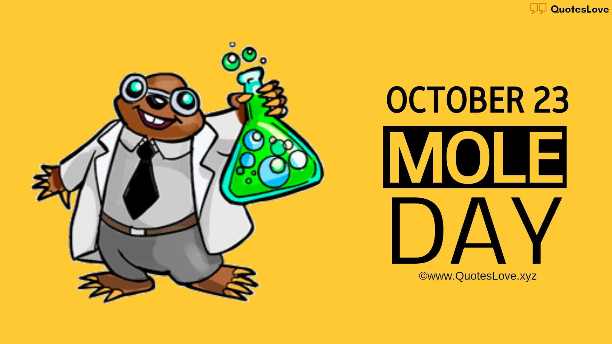 Mole Day Quotes, Sayings, Wishes, Greetings, Messages, Images, Pictures, Poster, Photos