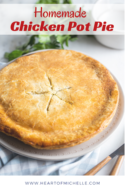Homemade Chicken Pot Pie is classic comfort food. This pot pie is loaded with chicken and veggies, seasoned just right. Once you try this chicken pot pie recipe, you'll never go back to store-bought!