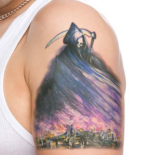 colorful grim reaper tattoos renkli azrail dövmeleri