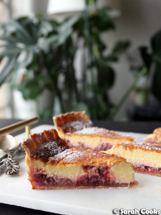 Rhubarb Custard Tart