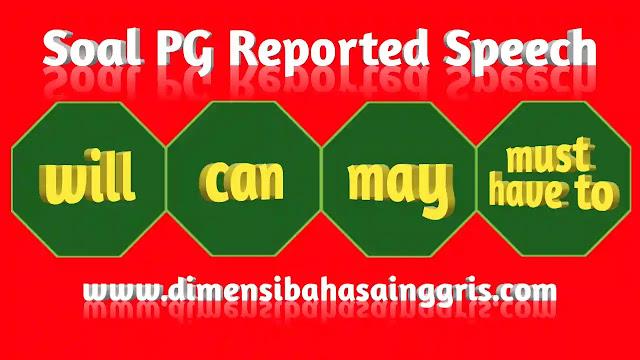 DBI - Soal PG Reported Speech Modals