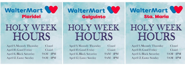 WALTERMART, SM BULACAN MALLS OPERATING SCHEDULE FOR HOLY WEEK 2020