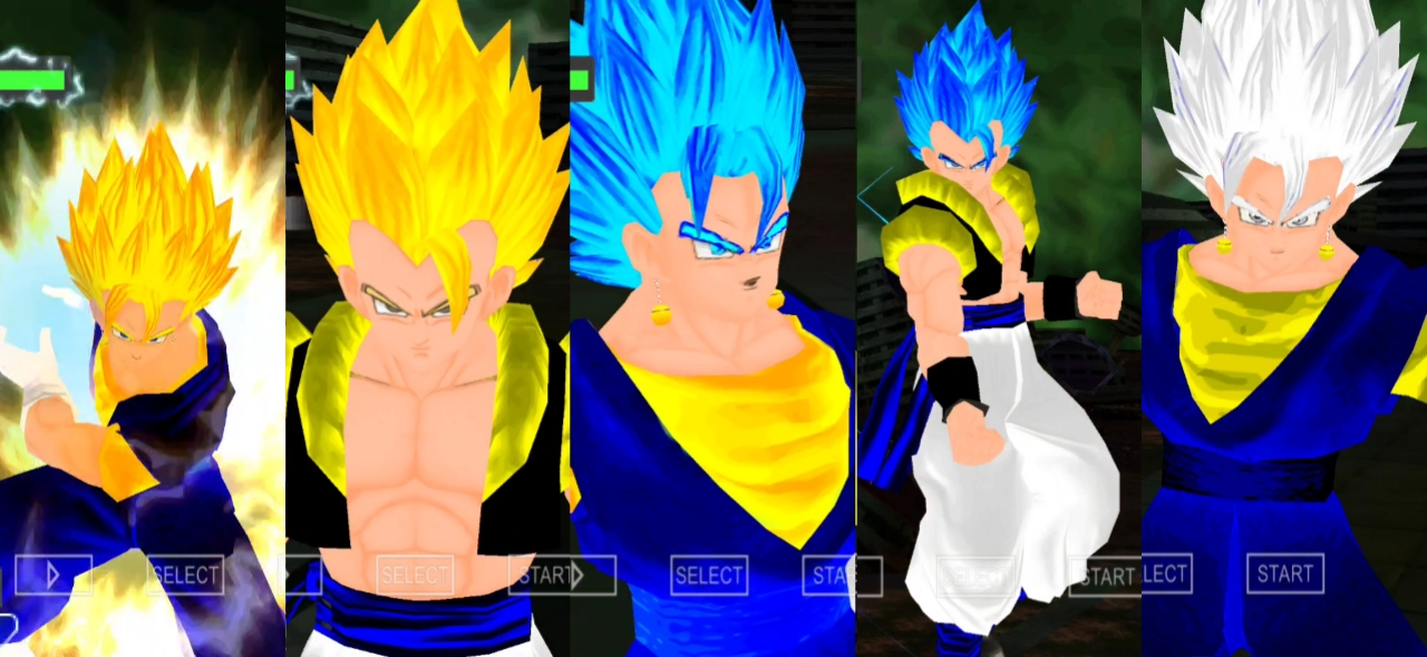 Vegito Blue and Gogeta Blue DBZ Raging Blast