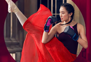 Source: Singtel website. Image of a girl with boxing gloves  and ballet shoes on the Combo XO page.