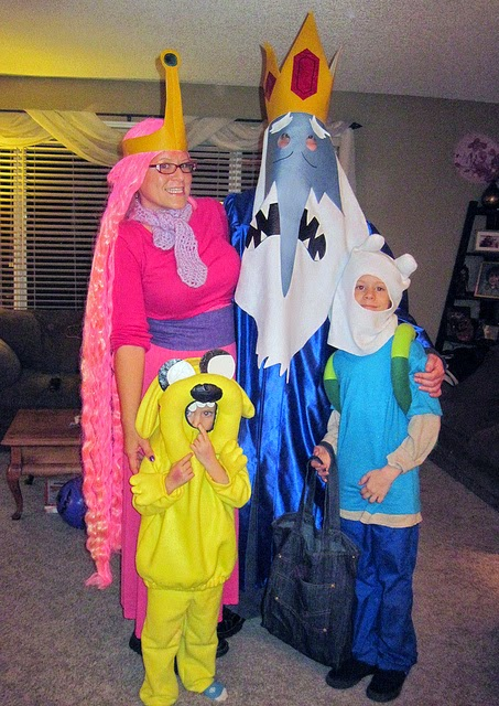 DIY Adventure Time Family Costume