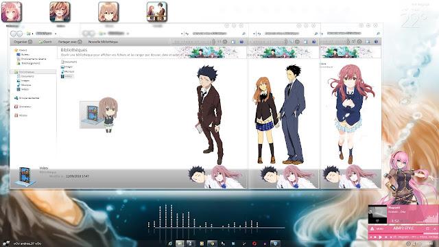 Windows 7 Theme The Shape Of Voice ~Koe No Katachi~ by Andrea_37