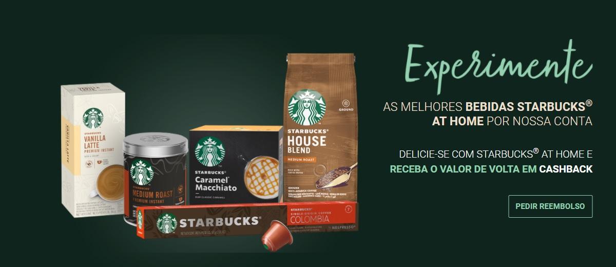 Promoção Nestlé Starbucks 2021 Experimente Grátis Dinheiro de Volta Cashback
