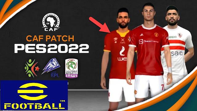 تحميل PES2022 أوفلاين لمحاكي PPSSPP مع باتش دوري أبطال إفريقيا, الدوري المصري, الجزائري و المغربي