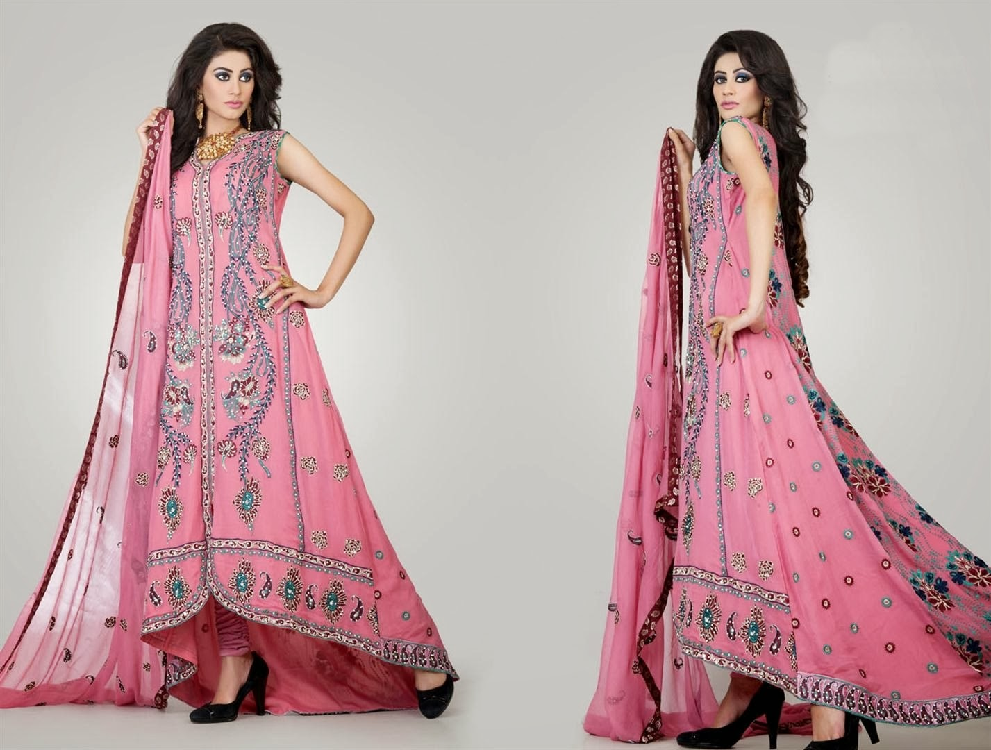 Fancy Farasha Designs For Evening Parties Heavy Formal
