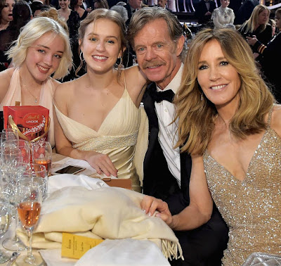 Felicity Huffman with her husband & daughters