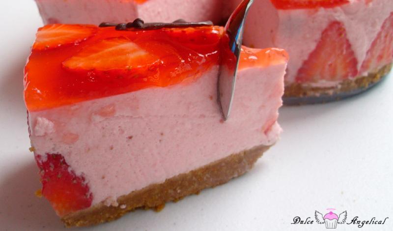 Receta de tarta de fresas sin horno
