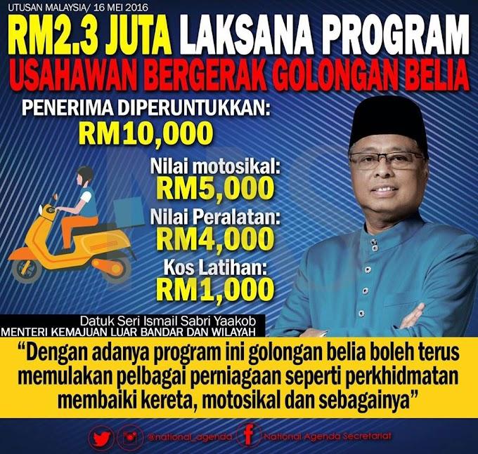 Kerajaan Laksana Program Usahawan Bergerak Bantu Belia @Ismail_Sabri60