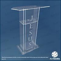 Púlpito em Acrílico - Acrilandia