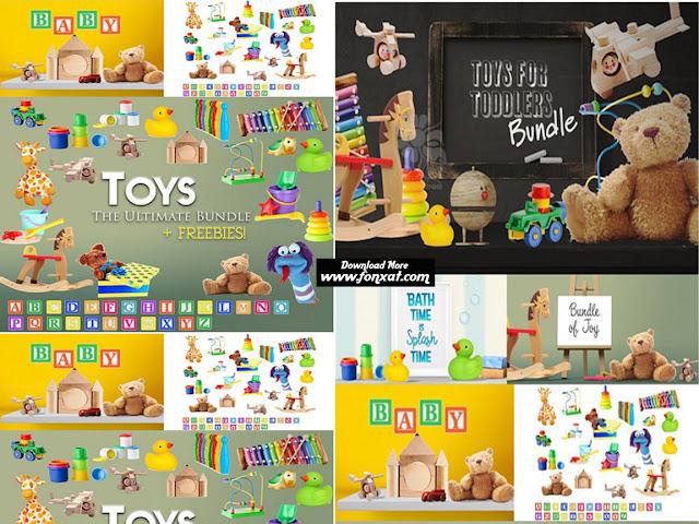 مجموعة كبيرة من الصور المفرغة وملفات ال psd المتعلقة بتصاميم الاطفال