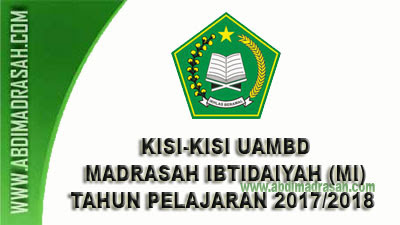 Kisi-Kisi UAMBD MI Tahun Pelajaran 2017/2018