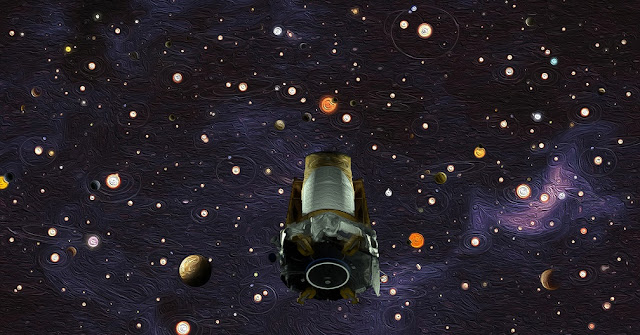 Artist's impression of Kepler spacecraft