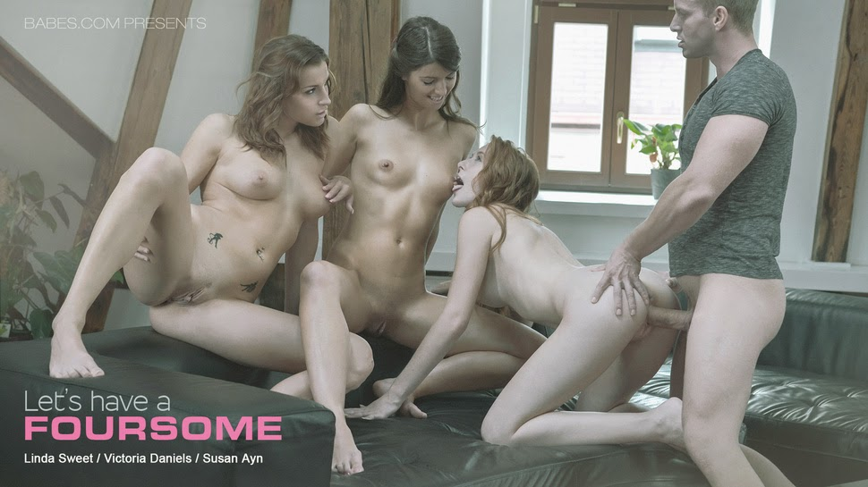 Babes0-18 Victoria Daniels, Linda Sweet & Susan Ayn - Let's Have a Foursome 09230