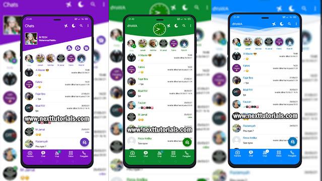 Kumpulan Tema dYOWA WhatsApp Tampilan Simpel & Keren 2021,install aplikasi dyowa v61 terbaru 2021,download wa mod anti banned,yowhatsapp anti blokir