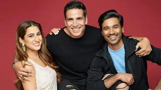 akshay kumar, sara ali khan, dhanush in film 'atrangi re'